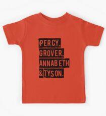 Percy, Grover, Annabeth & Tyson Kids Clothes