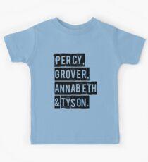 Percy, Grover, Annabeth & Tyson Kids Tee