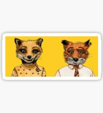 Mr. and Mrs. Fox Sticker