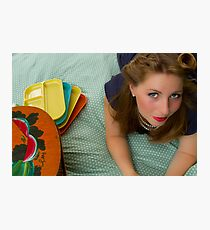 50s Retro Girl Photographic Print