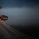 Lake Otamangakau at night by Paul Mercer