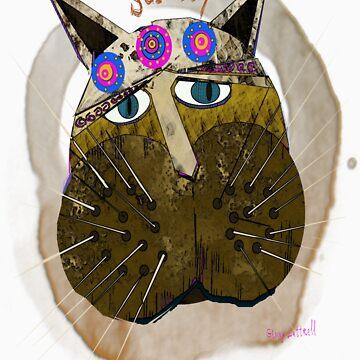 Scruffy Cat by ginnyl52