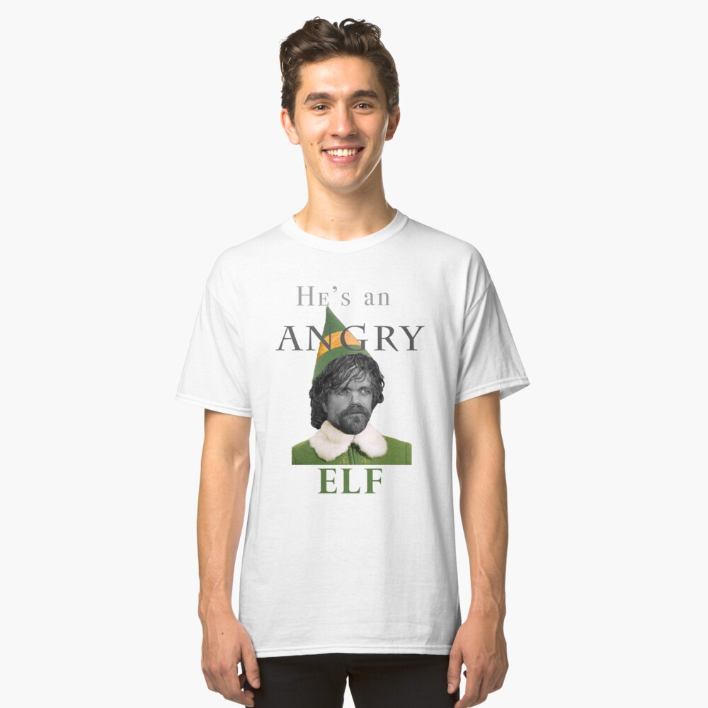 Angry Elf  Classic T-Shirt Front