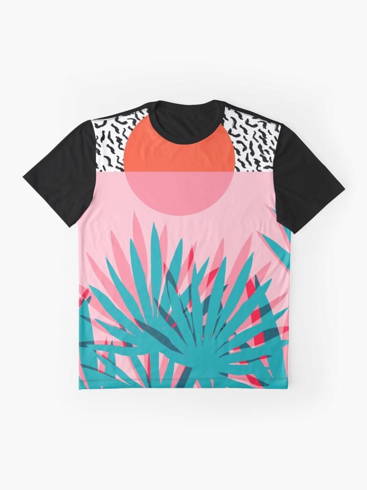 Alternative Ansicht von Whoa - Palme Sonnenaufgang Südwest Kalifornien Palm Beach Sun Stadt Los Angeles Hawaii Palm Springs Resort Dekor Grafik T-Shirt