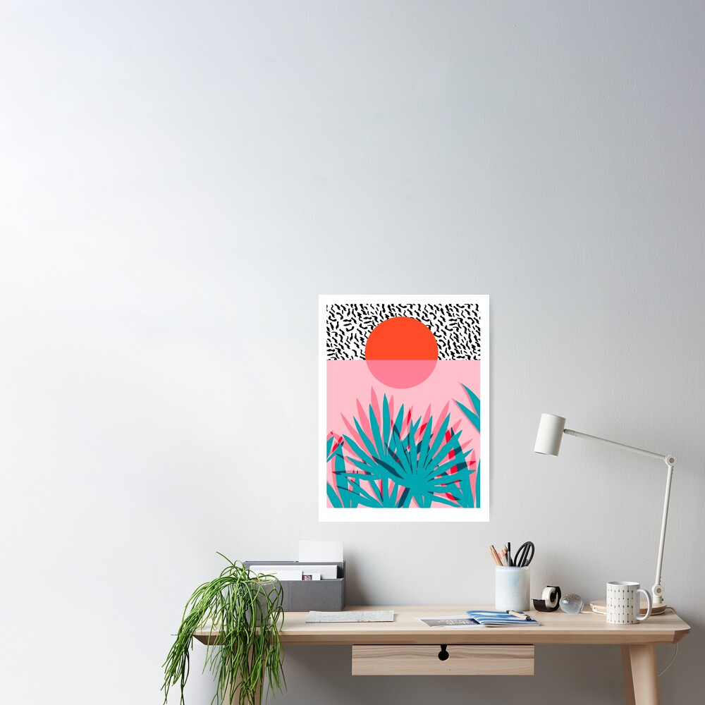 Whoa - palm sunrise southwest california palm beach sun city los angeles hawaii palm springs resort decor Poster