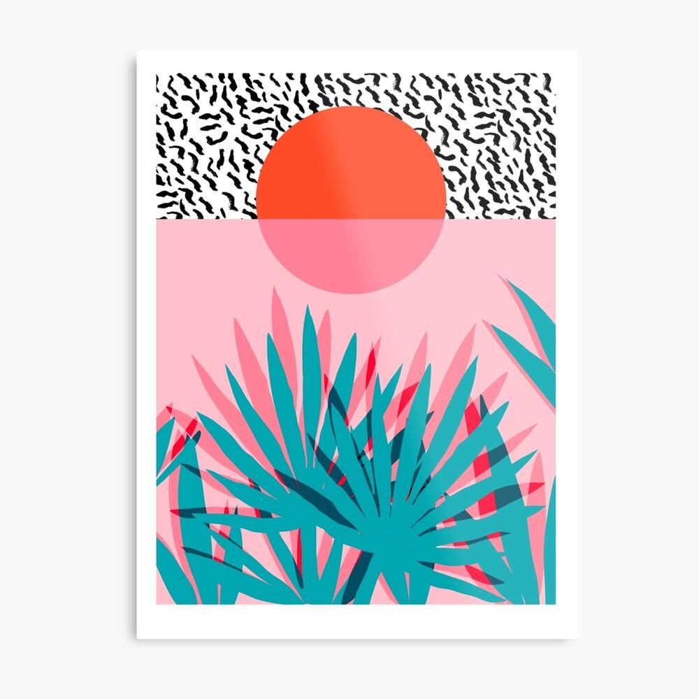 Whoa - palm sunrise southwest california palm beach sun city los angeles hawaii palm springs resort decor Metal Print