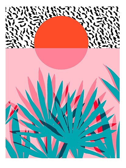 «Whoa - palm sunrise southwest southwest palm beach sun city los angeles hawaii palm resort resort decor» de wackadesigns