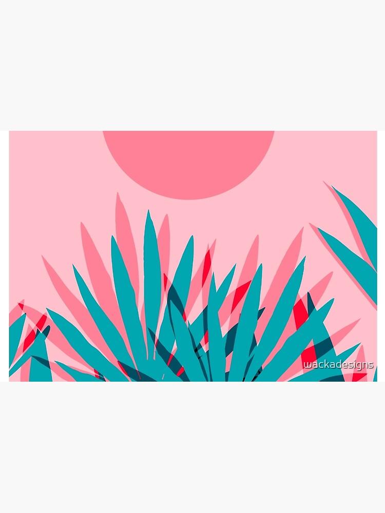 Whoa - Palme Sonnenaufgang Südwest Kalifornien Palm Beach Sun Stadt Los Angeles Hawaii Palm Springs Resort Dekor von wackadesigns