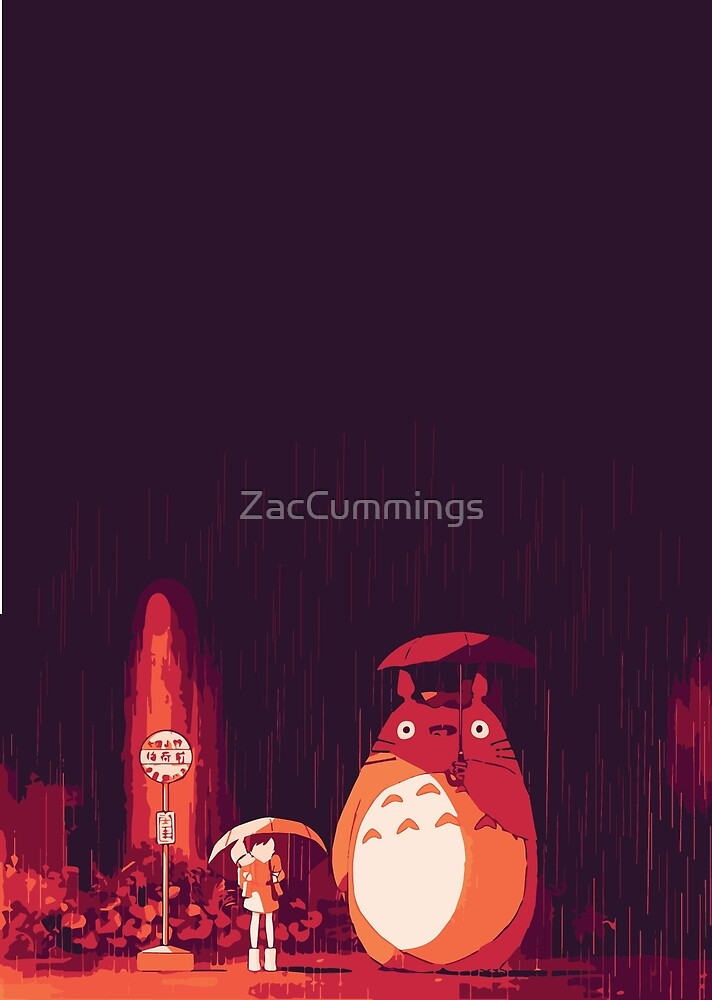 Totoro in the rain by ZacCummings