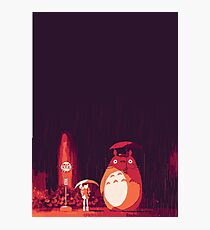 Totoro in the rain Photographic Print