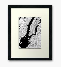 New York Toner Poster Framed Print