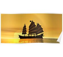 China Sunset Poster