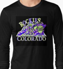 ROCKIES BLACK Long Sleeve T-Shirt