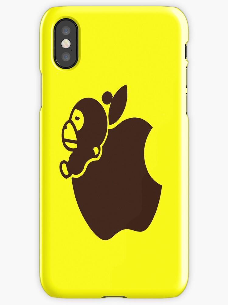 Apple Monkey iPhone Case by jereeebear