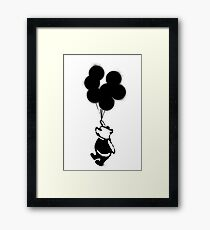 Flying Balloon Bear Framed Print