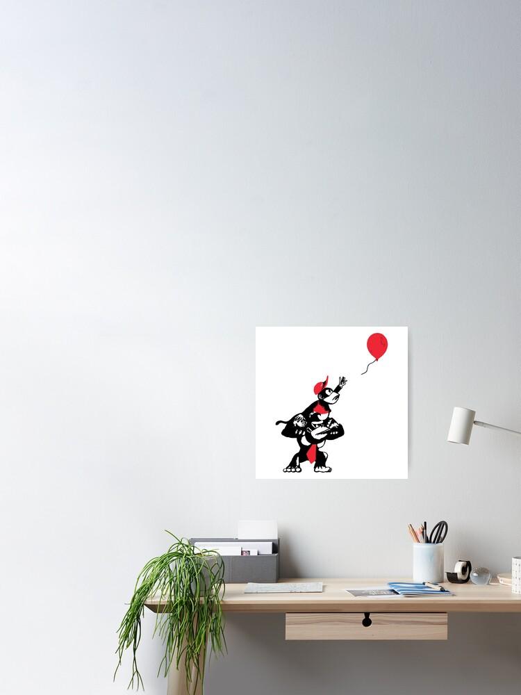 Alternative Ansicht von Ballon Affen Poster