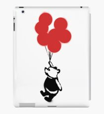 Flying Balloon Bear - Red Balloons Version iPad Case/Skin