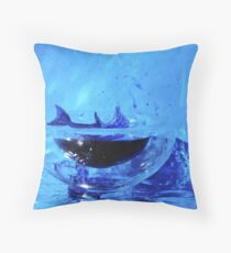 Dolphin in a small world Throw Pillow