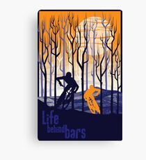 retro mountain bike poster illustration Canvas Print