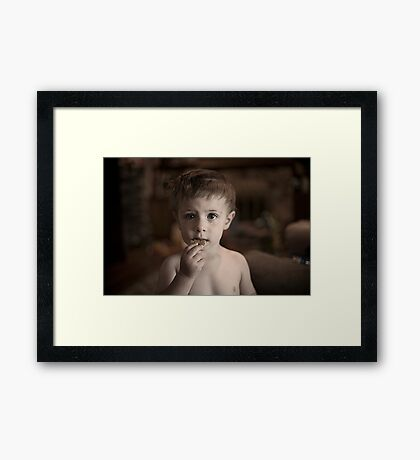 Cookies Fix Everything Framed Print