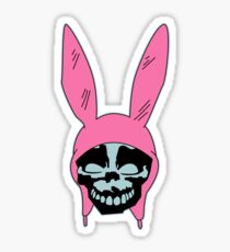 Grey Rabbit/Pink Ears Sticker