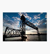 Cape Cod RR Bridge Silhouette Photographic Print