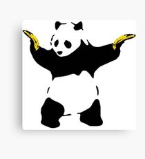 Bad Panda Stencil Canvas Print