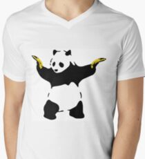Bad Panda Stencil Men's V-Neck T-Shirt
