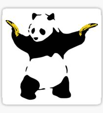 Bad Panda Stencil Sticker
