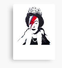 God Save The Queen Stencil Canvas Print