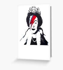 God Save The Queen Stencil Greeting Card