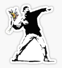 Rage Flower Bomber Stencil Sticker