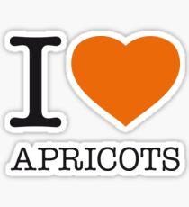 I ♥ APRICOTS Sticker