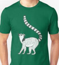 Ringtailed Lemur on Green Unisex T-Shirt