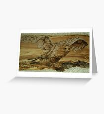 majestic snowy owl  Greeting Card