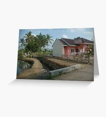 tropical house Greeting Card