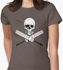 Skull and Cricket Bats Womens Fitted T-Shirt