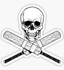 Skull and Cricket Bats Sticker