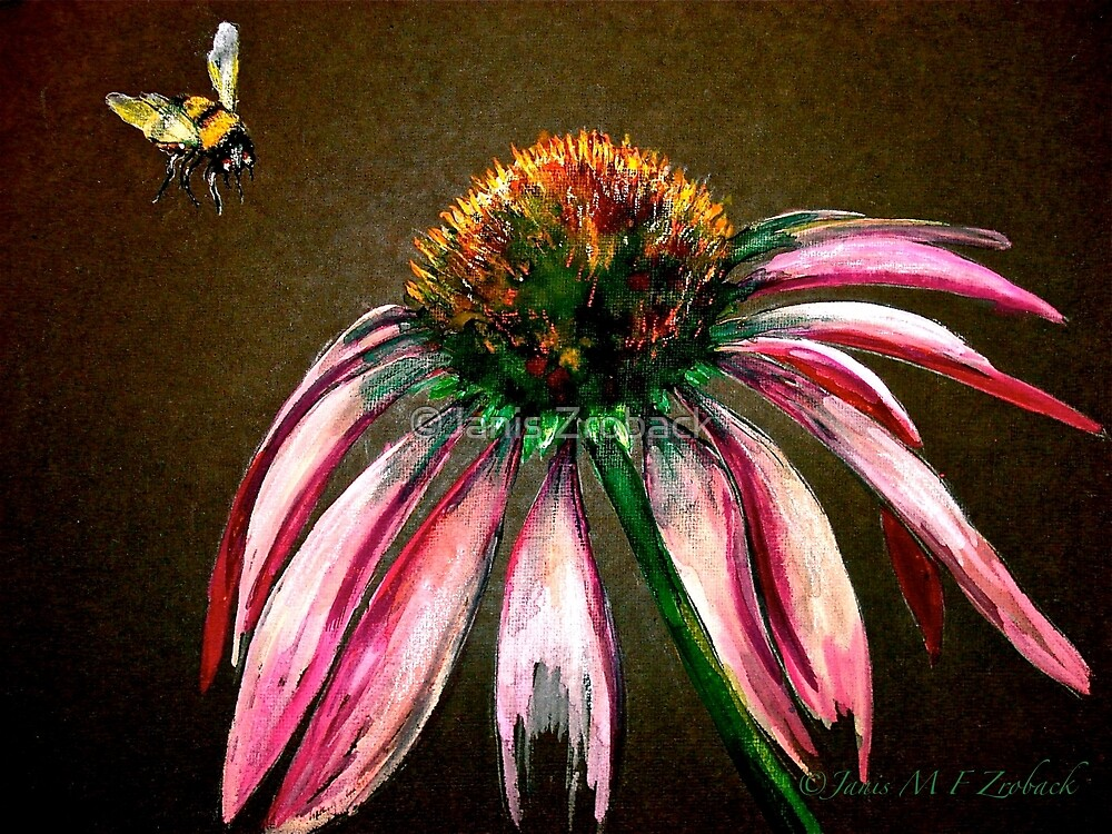 The Bee and the Flower  by ©Janis Zroback