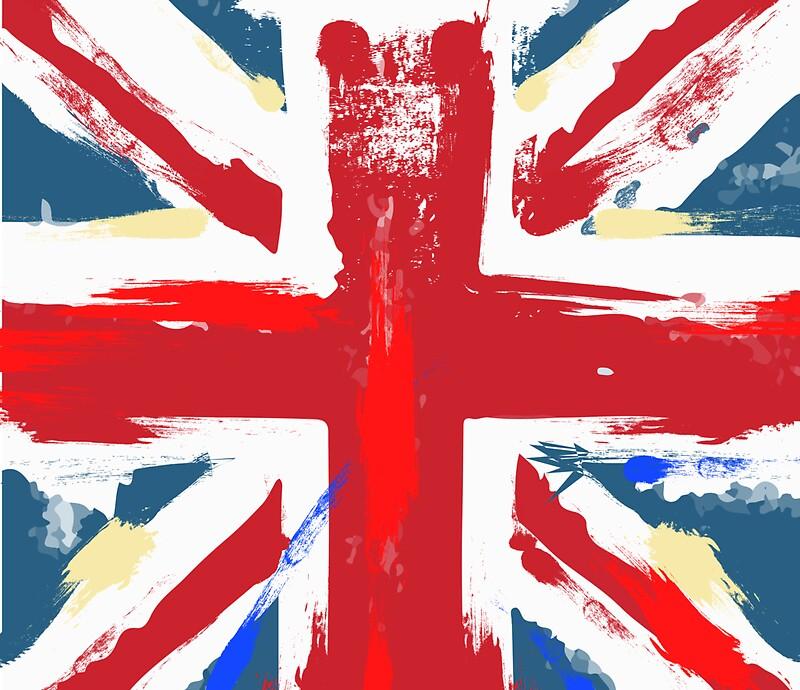 Quot Worn Union Jack British Flag Quot By Vectorwebstore Redbubble