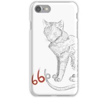 Cats are the devil. iPhone Case/Skin