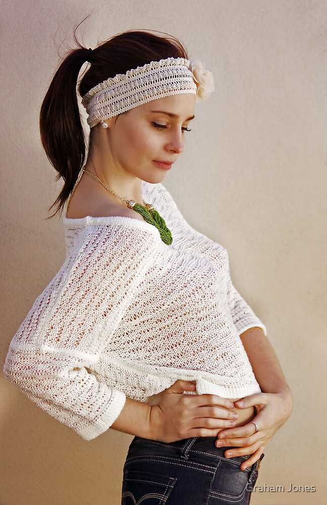 Pretty Knits and a Ponytail by Graham Jones