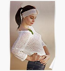 Pretty Knits and a Ponytail Poster