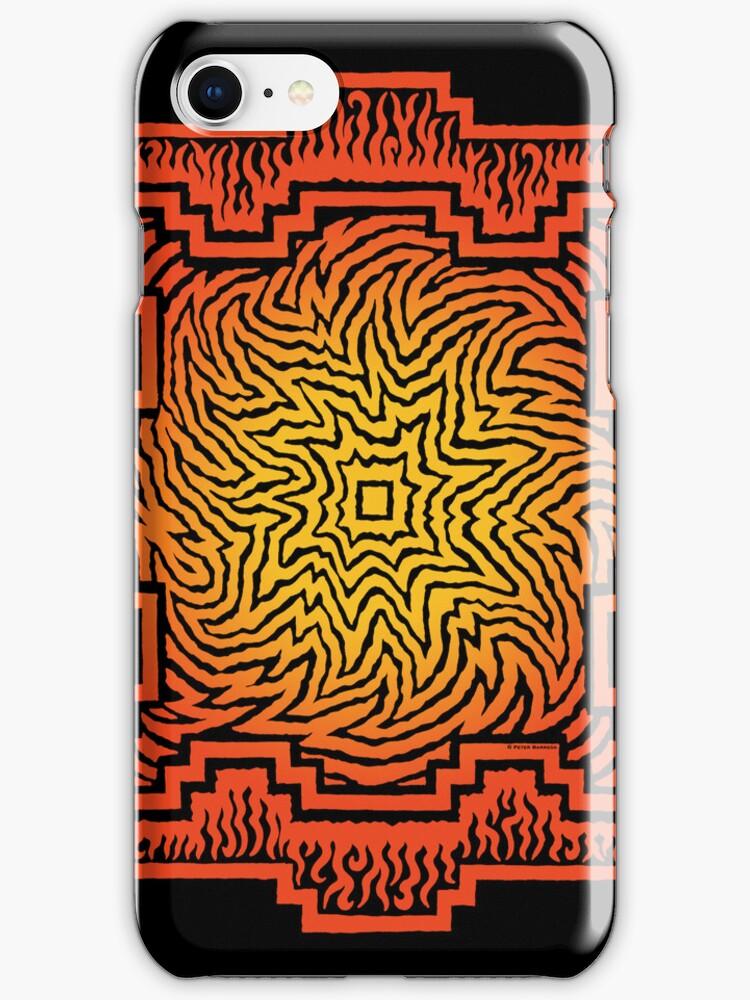 ufurium fire mandala iPhone case by peter barreda
