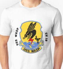 USS Wasp (CV/CVA/CVS-18) Crest Slim Fit T-Shirt