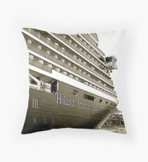 ms Oosterdam In Seattle Throw Pillow