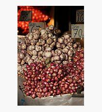 Onions and Garlic Photographic Print