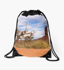Scraggy tree Drawstring Bag