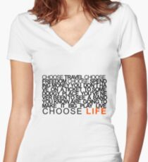 Choose Gigs Women's Fitted V-Neck T-Shirt