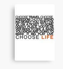 Choose Gigs Canvas Print